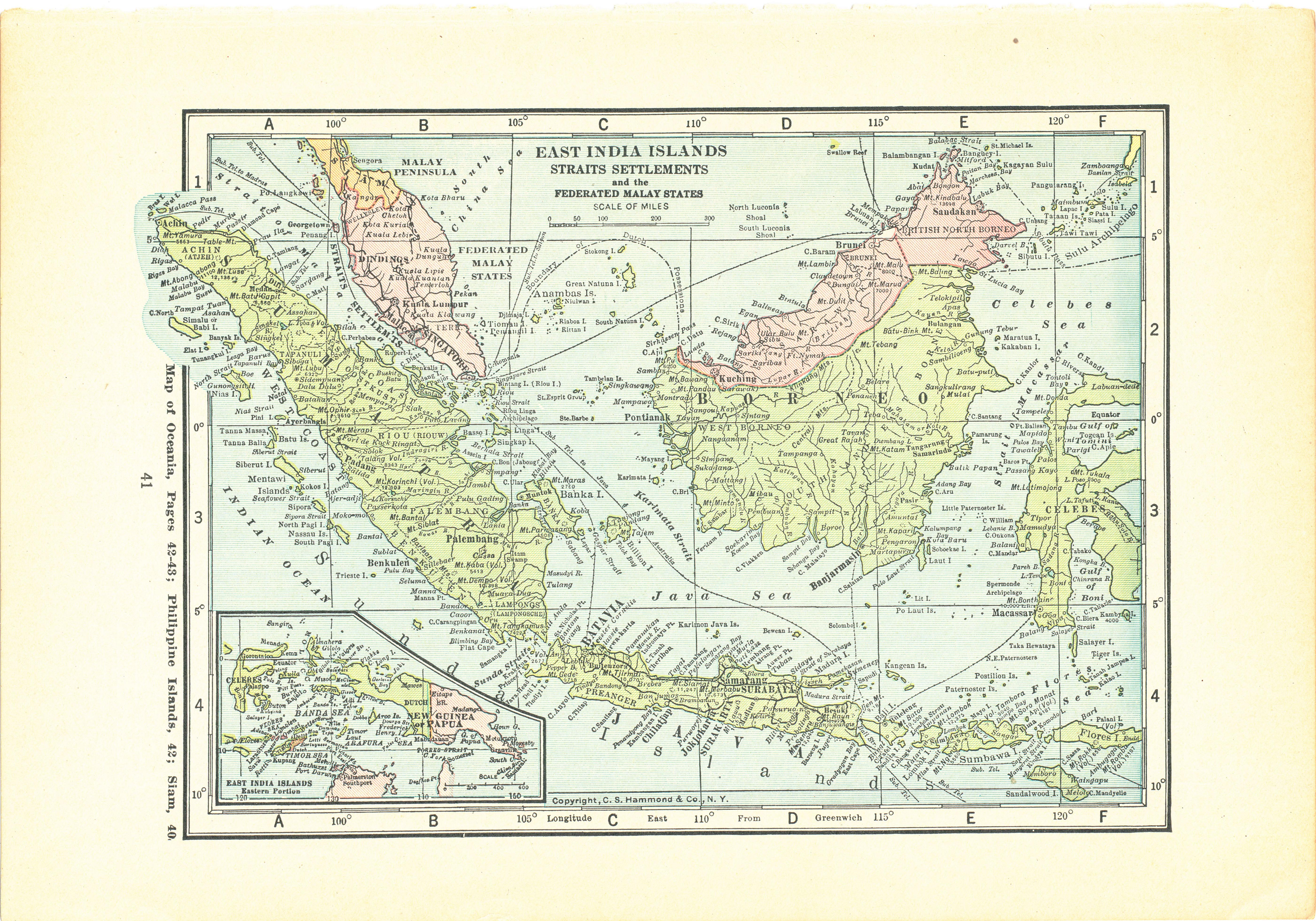 Image of: 1923 Atlas Of The World Vintage Map Pages Sumatra Borneo Map On One Side And Australia On One Side Green Basics Inc